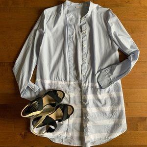 Halogen | Long classic striped blouse